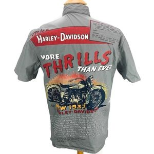 Harley Davidson Button Mechanic Shirt More Thrills